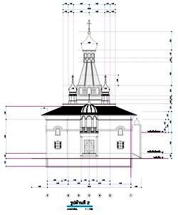 Draft designs of the new Orthodox temple in Bangkok in the name of St. Nicholas, archbishop of Myra in Lycia