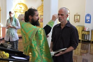 The reception of Mr. John Edward Salmon into the Orthodox Church
