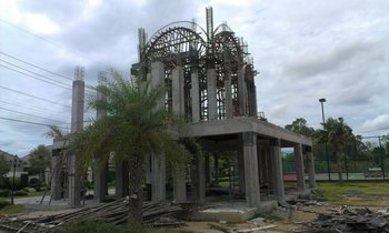 Construction of Protection Church in Pattaya, Chonburi Province (July 2012)