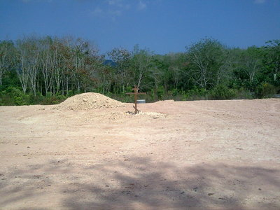 Plot of land on Phuket prepared for construction work.