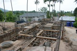 The course of construction work for Holy Ascension Church on Samui (18.05.2011)